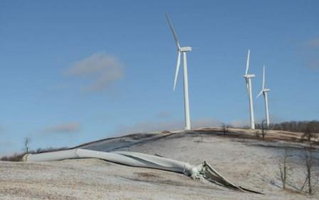 Toppled Wind Turbine PA