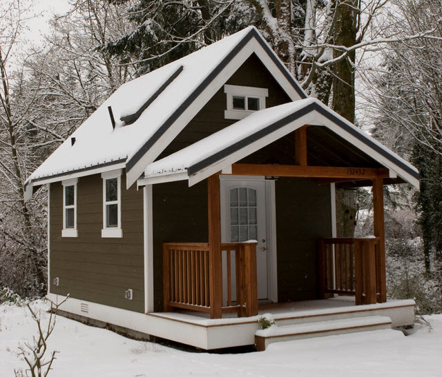 Snow Covered Tiny Home