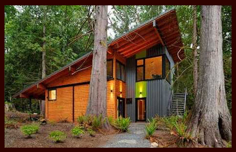 Eco-friendly forest home by Johnston Architects