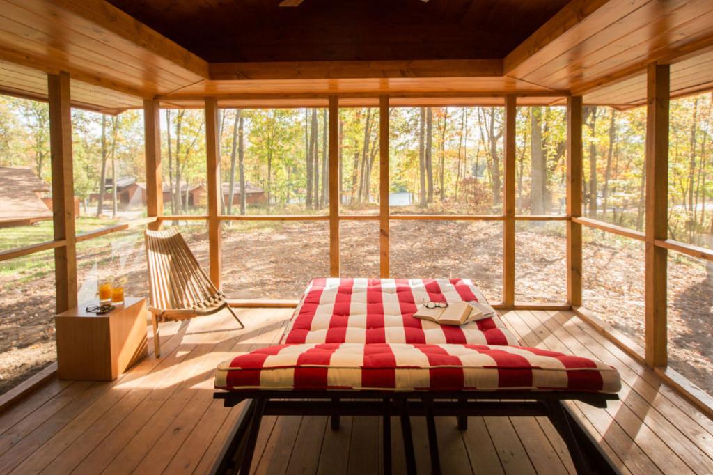 Screened Porch Area ESCAPE Cabin