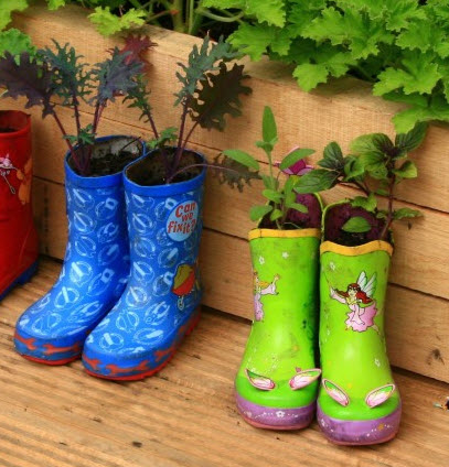 Old Boots for Garden Pots