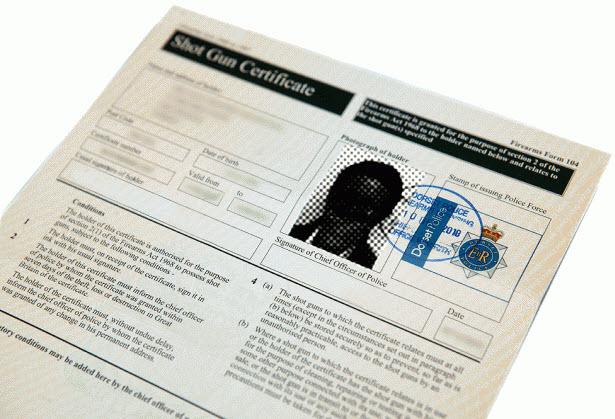 Shot Gun Certification Document Sample