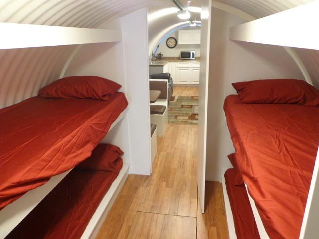 Survival shelter bedroom one