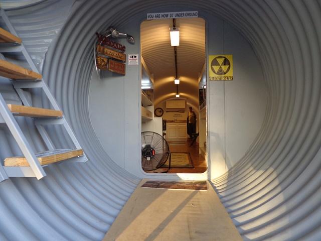 Survival shelter back hallway